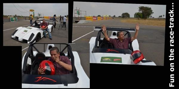 Driving with Narain Karthikeyan_Fun on the race track