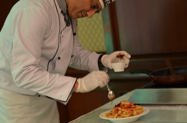 Chef Tushar is focused on his creative interpretation