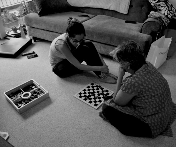 Being #together is... playing games at home and loving the sporting rivalry