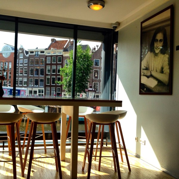 Well, furniture not just gives a room its own specific meaning but also gives you a reason to be there and do just what you want to do.  Picture clicked by me in the cafe of Anne Frank Museum in Amsterdam where the sombre mood needs to be lifted deliberately