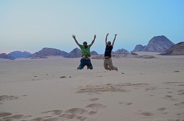 Wadi Rum, Jordan... can anyone jump in delight. My gAdventures mates