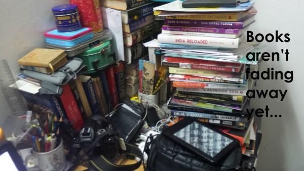 Books aren't fading away yet...