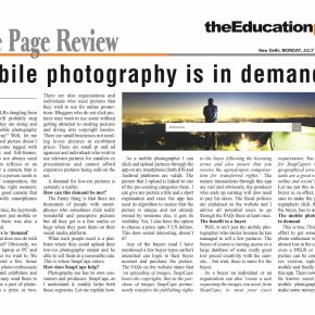 Mobile photography is in demand
