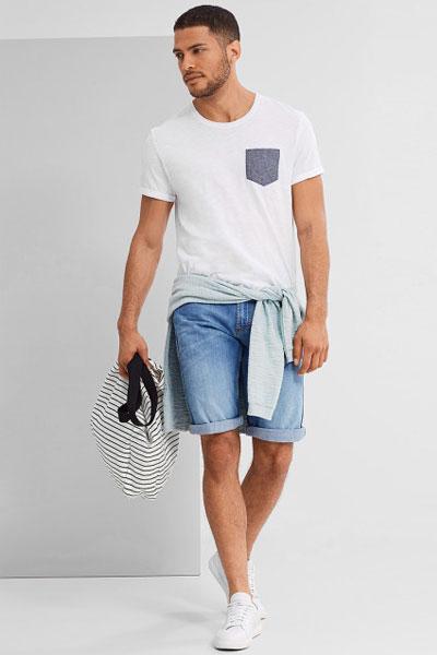 porter un t-shirt homme look avec un t-shirt à poche