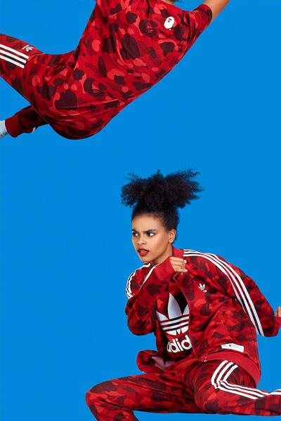 BAPE x Adidas rouge