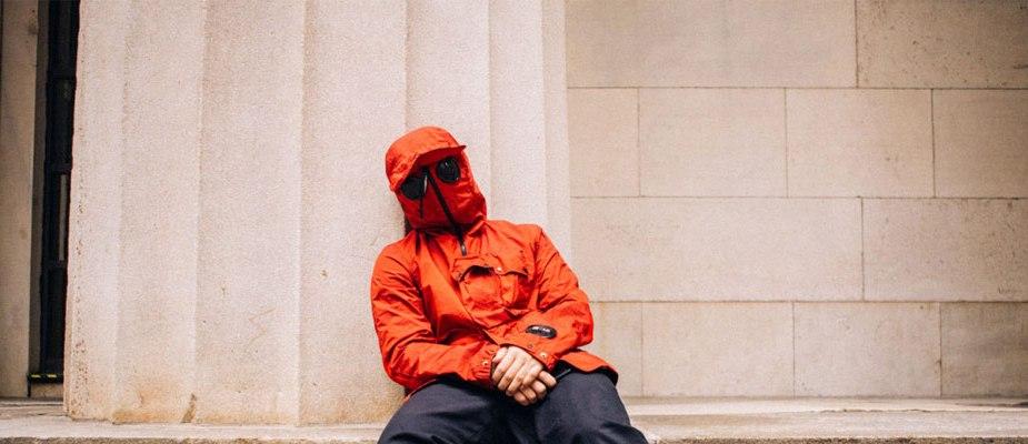 Adidas x CP Company swear à capuche amovible rouge