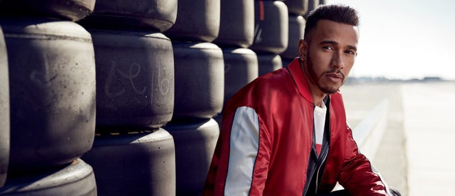 tommy x lewis, lewis hamilton bomber rouge