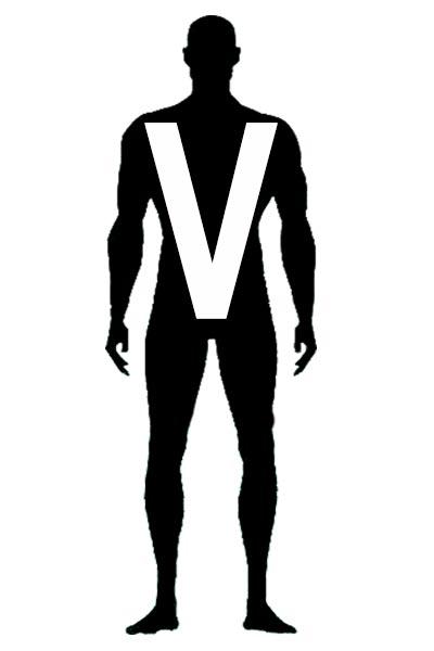 silhouette morphologie en V homme