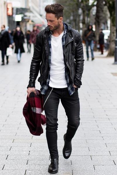 veste de motard homme pour une morphologie en V