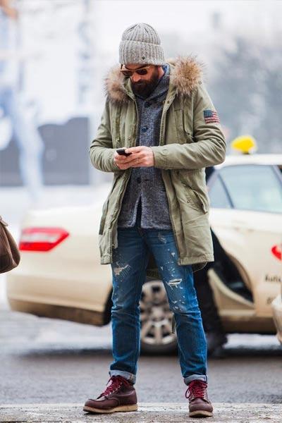 choisir un manteau homme parka kaki pour un look casual homme