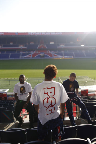 collaboration A Bathing Ape et PSG