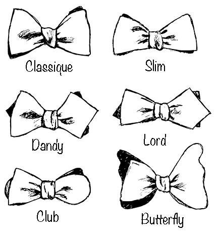 les différents types de noeuds papillon