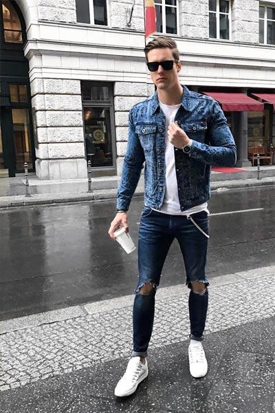 look rock jean homme