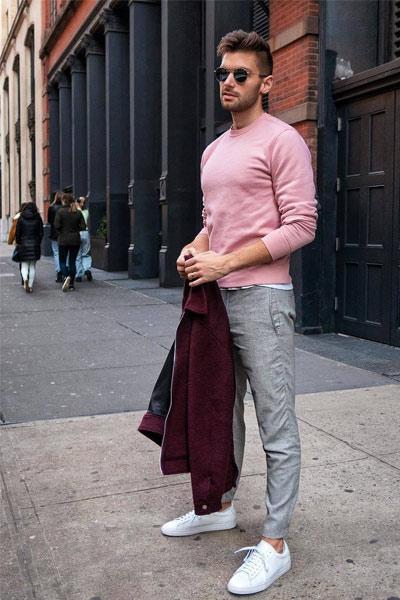 porter un pantalon gris homme look casual