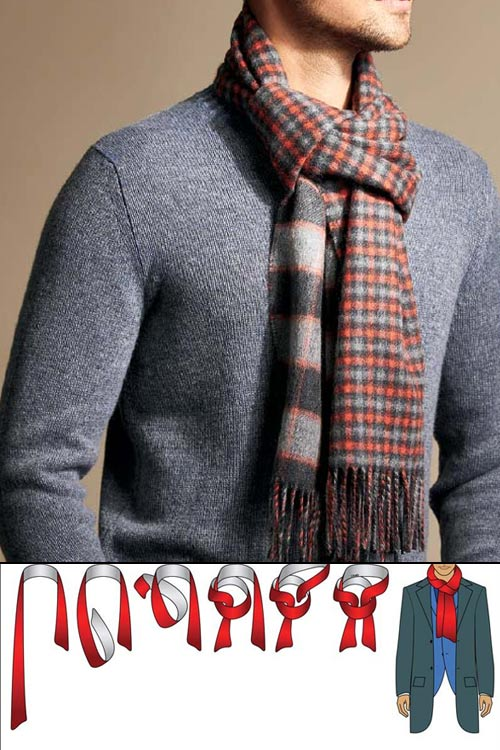 porter une écharpe homme faux noeud