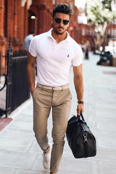 ceinture avec un pantalon chino