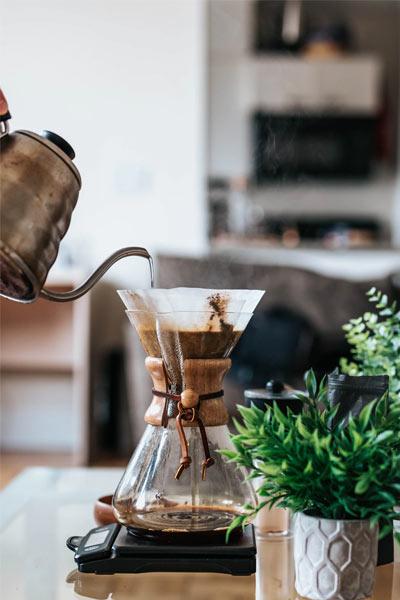 faire un café filtre avec une cafetière pour over