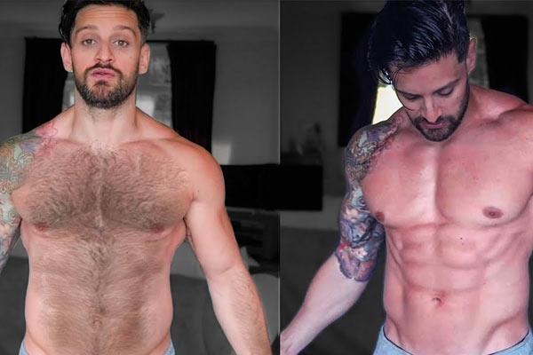 épilation du torse masculin, amélioration musculaire