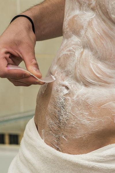 Crème dépilatoire dépilatoire pour torse masculin