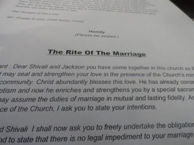 The Rite of the Marriage