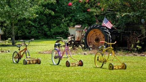 Bike-a-mowers and Tractor