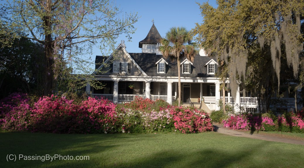 Magnolia Plantation House, Morning Sun, River Side