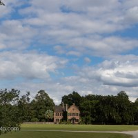 Fluffy Clouds Over Middleton Place House Museum