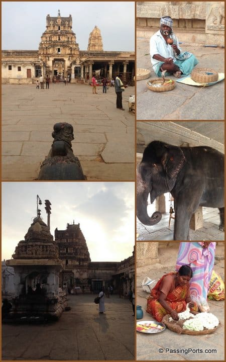 Architecture inside Hampi Temples