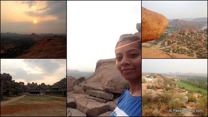 Matanga HIll in Hampi for sunrise