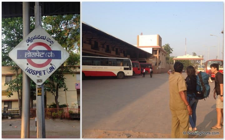 Bus station to Hampi