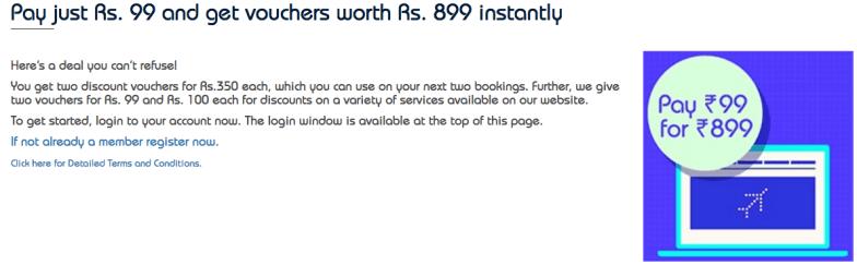 Indigo Airlines ₹999 vouchers