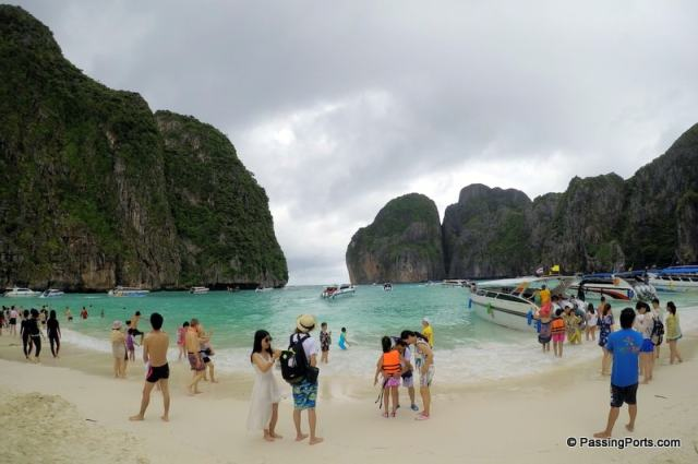 Maya Beach In Krabi , Thailand
