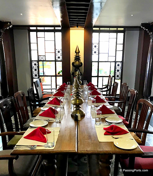 The layout of dining in Svatma, Tanjore