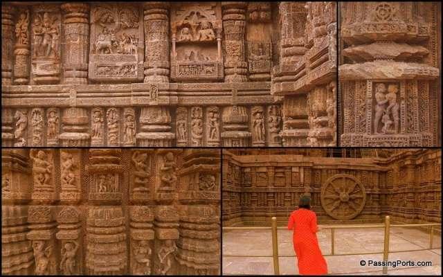 Art and sculpting inside Konark Temple