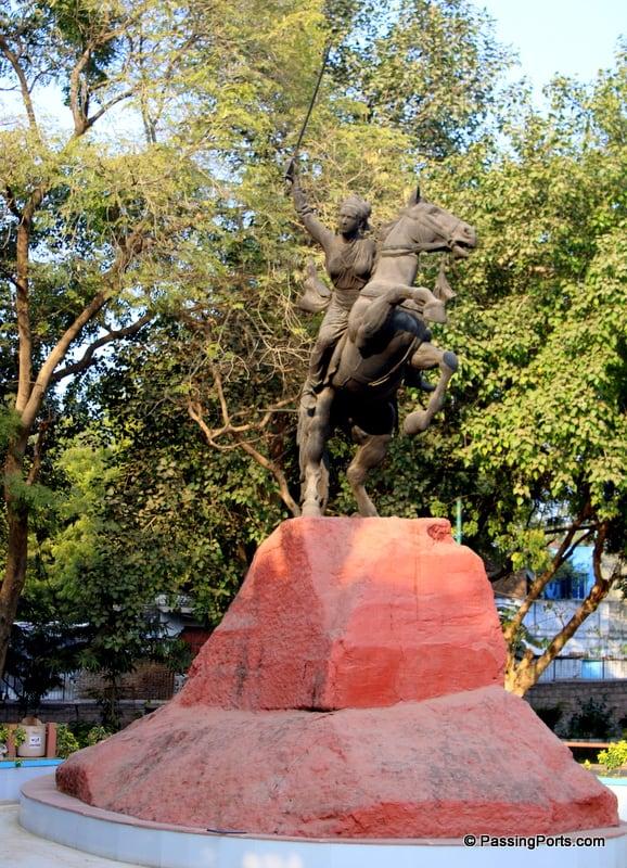 Resting place of Rani Lakshmi Bai