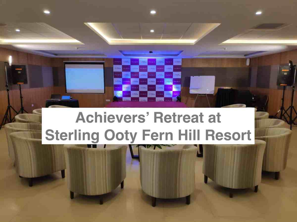 Achievers' Retreat Unconference at Sterling Ooty Fern Hill Resort