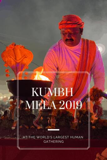 Kumbh Mela Aarti in the evening