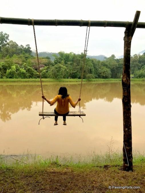 Swing in Pai Village near Land Split