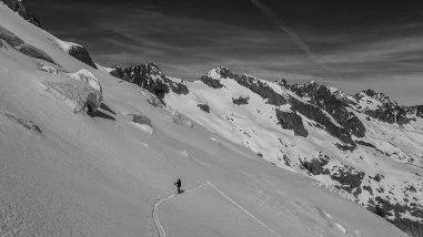 Sur le glacier de la Pilatte