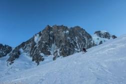 Ski sous les Grandes Jorasses