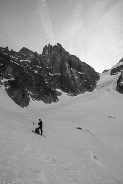 Sous les Charmoz et le glacier des Nantillons