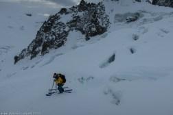 Ski entre les crevasses