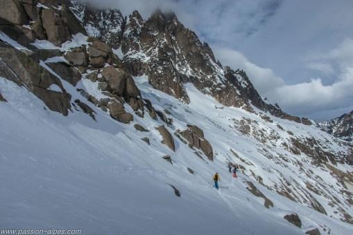 Accès au glacier d'Envers de Blaitière