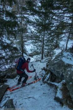 Partie basse, jonction avec le chemin du Col de la Forclaz
