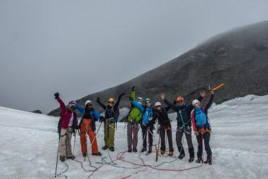 Col de la Lauze, une équipe heureuse