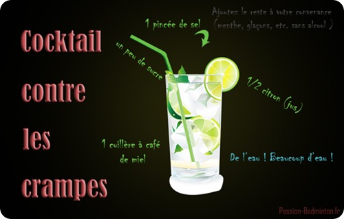 cocktail contre les crampes