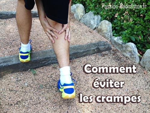 éviter les crampes au badminton