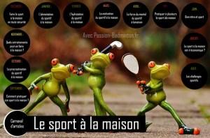 le sport a la maison passion badminton