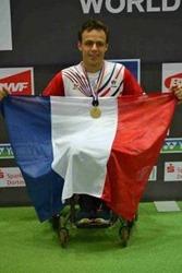 david toupe champion du monde de parabadminton