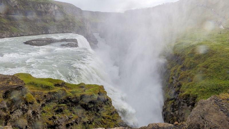 Circuit guidé en Islande, chutes d'eau de Gulfoss dans le cercle d'or islandais